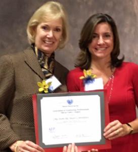Christine Alloo and Mari Chazen Receive Award