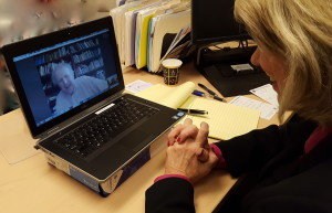 Robin Chapman conducts Skype interview with renowned author Alexander McCall Smith.